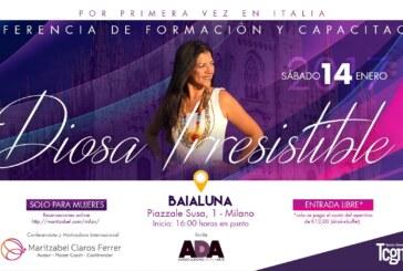 """Por primera vez en Milán convocan a conferencia """"Diosa Irresistible"""""""
