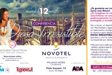 """Maritzabel Claros retorna a Milán con su conferencia """"Diosa Irresistible"""""""