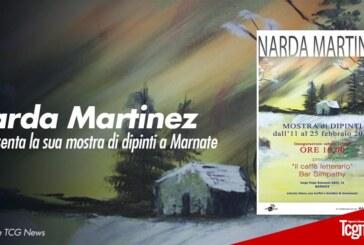 Narda Martinez presenta la sua mostra di dipinti a Marnate