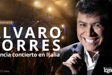 El cantante salvadoreño Álvaro Torres anuncia concierto en Italia