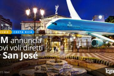 KLM annuncia i nuovi voli diretti per San José