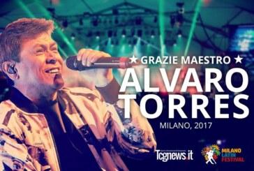 EL Cantautor salvadoreño Álvaro Torres enamora al público del Milano Latin festival