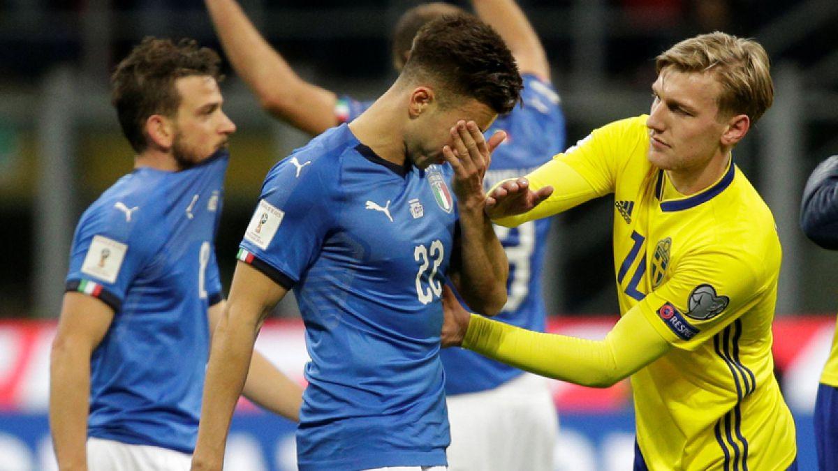 Italia empata con Suecia y queda fuera del Mundial de Rusia 2018
