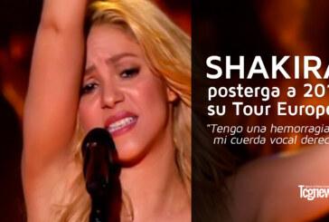 SHAKIRA posterga a 2018 su Tour Europeo
