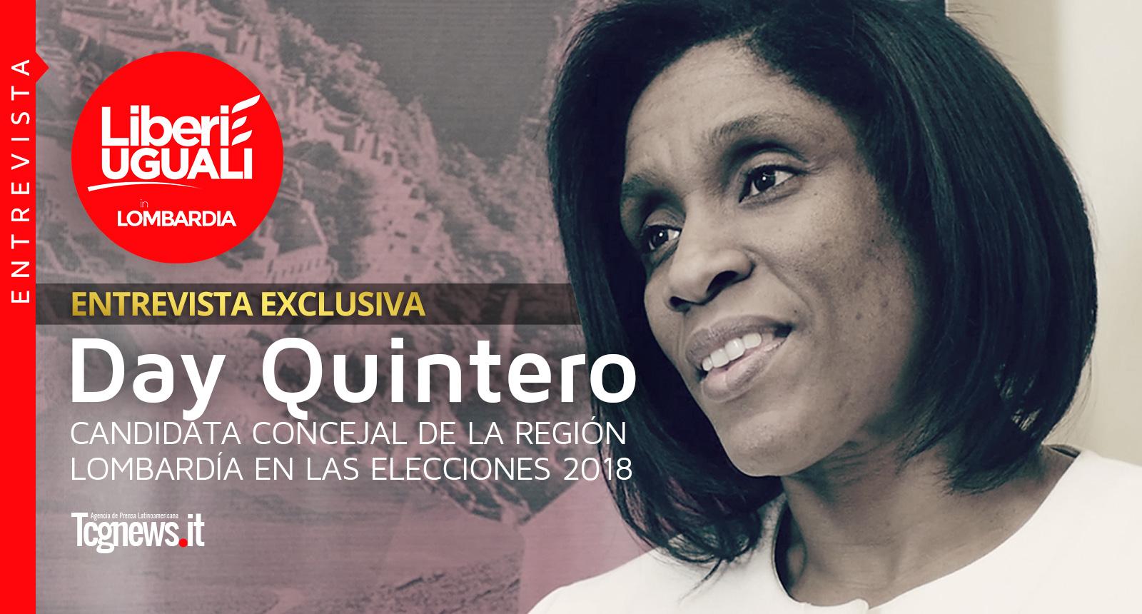 Entrevista a Day Quintero, Candidata Concejal de la Región Lombardía en las elecciones 2018 para LEU