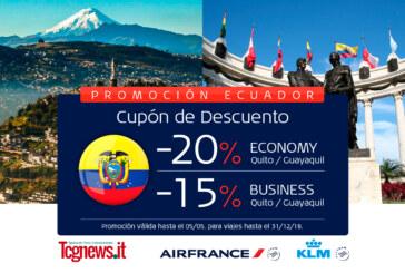Reserva tu vuelo para Ecuador y aprovecha del 20% de descuento