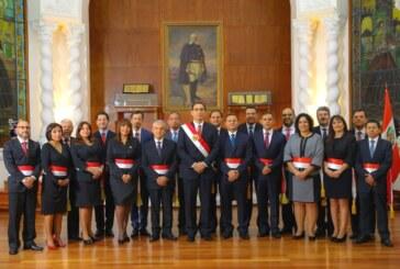 El presidente de Perú toma juramento a su primer gabinete de ministros