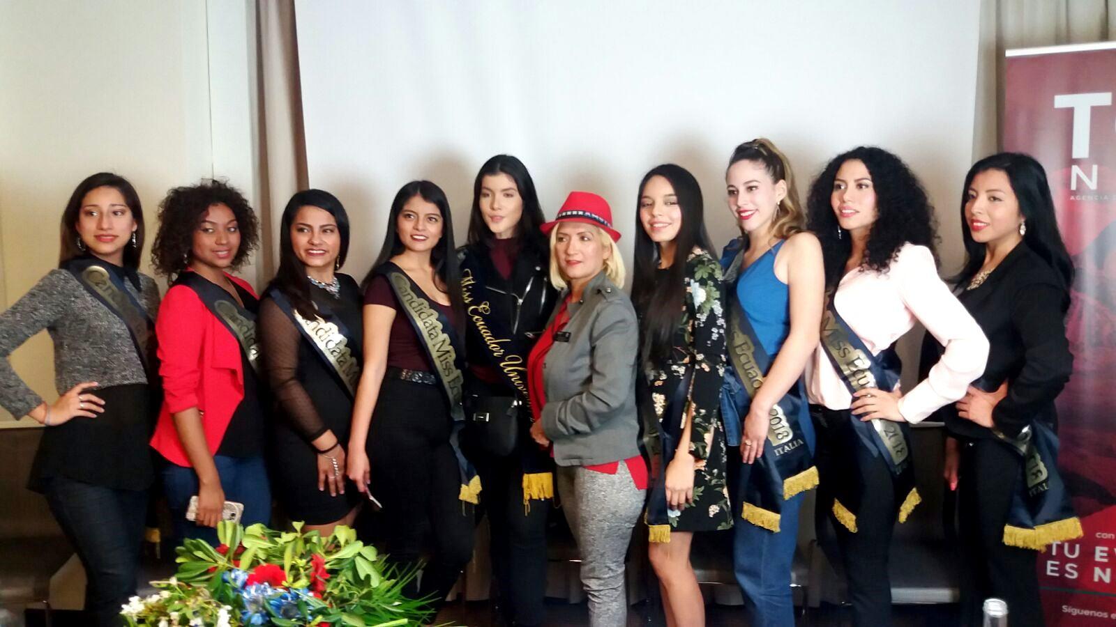 Milán, presentación de las candidatas del Miss Ecuador en Italia 2018