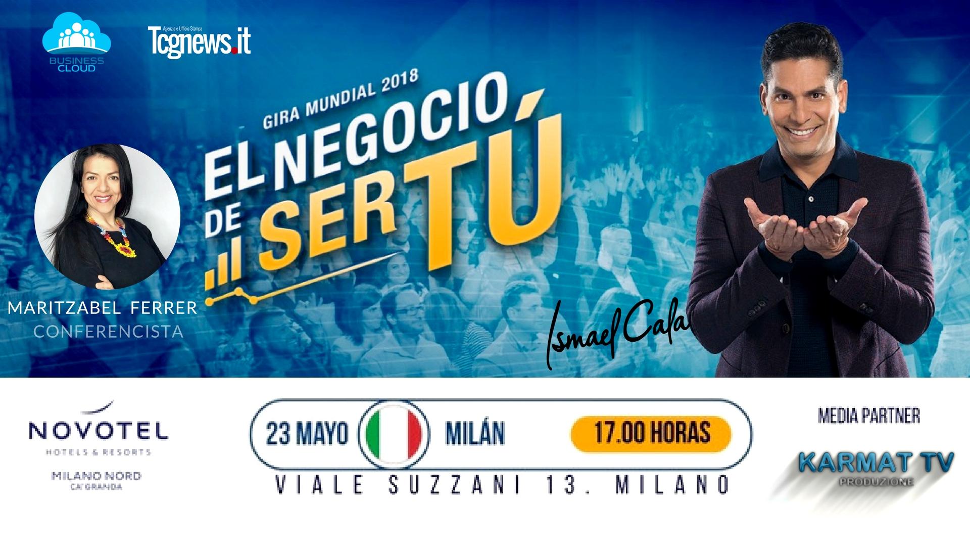 Gira europea del famoso periodista y conferencista Ismael Cala, por primera vez en Milán