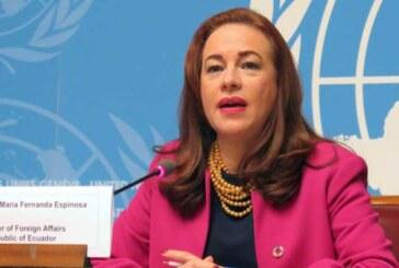 María Fernanda Espinosa, primera mujer latinoamericana al frente de la Asamblea General de la ONU
