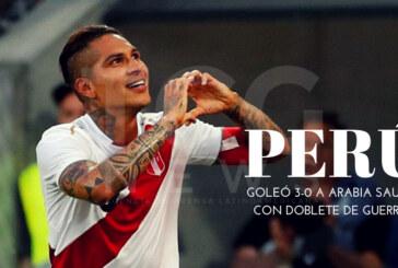 Perú goleó 3-0 a Arabia Saudita con doblete de Guerrero