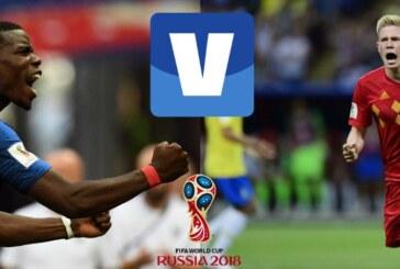 Francia-Bélgica, semifinal del Mundial Rusia 2018