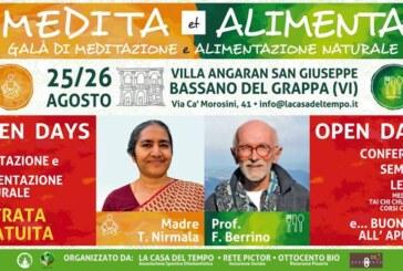 """""""MEDITA et ALIMENTA"""" due giornate dedicate alla Meditazione e alla Alimentazione Naturale"""