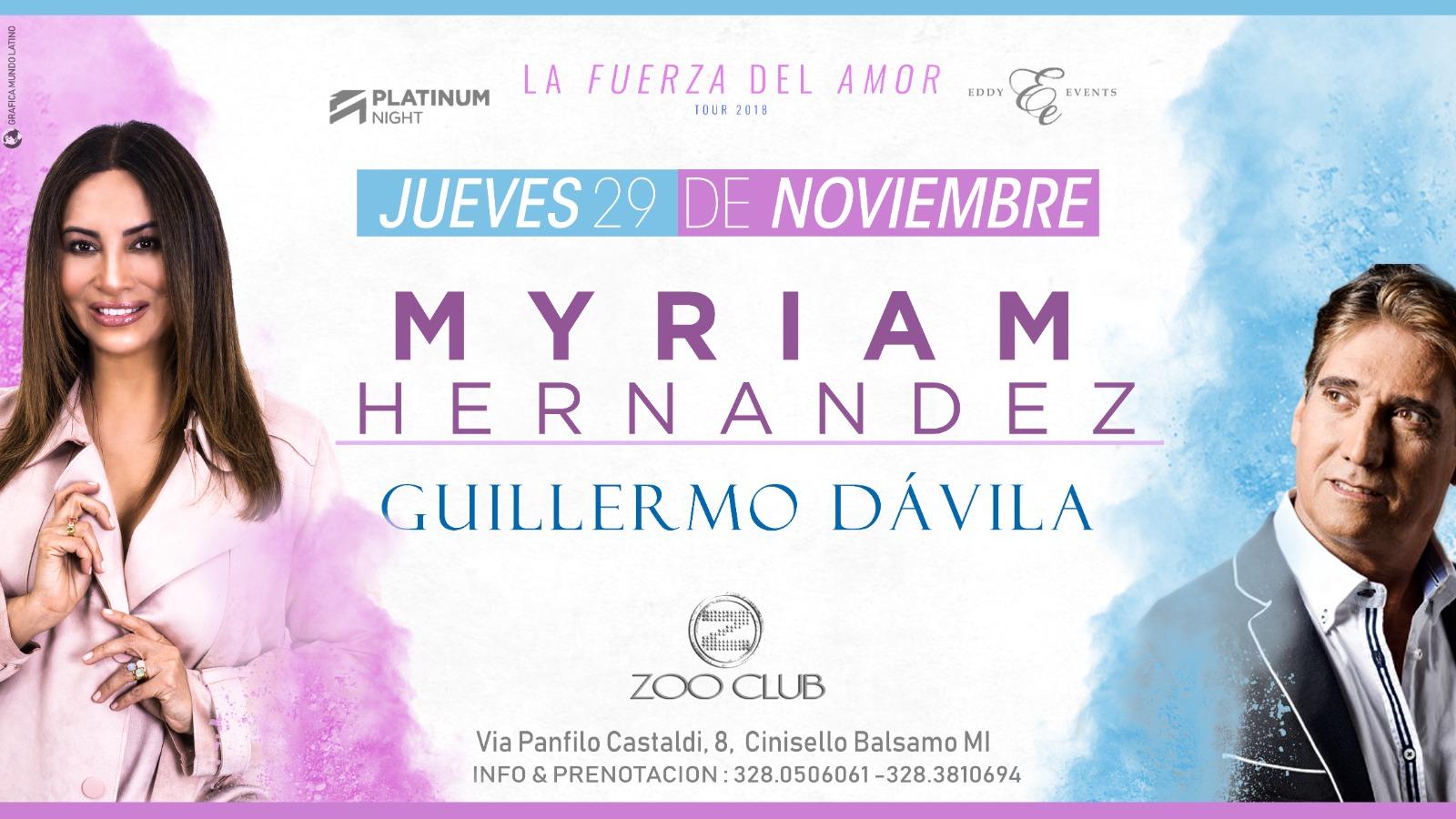 Myriam Hernández y Guillermo Dávila juntos en concierto
