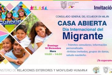 INVITACIÓN DÍA INTERNACIONAL DEL MIGRANTE DOMINGO 16 DE DICIEMBRE