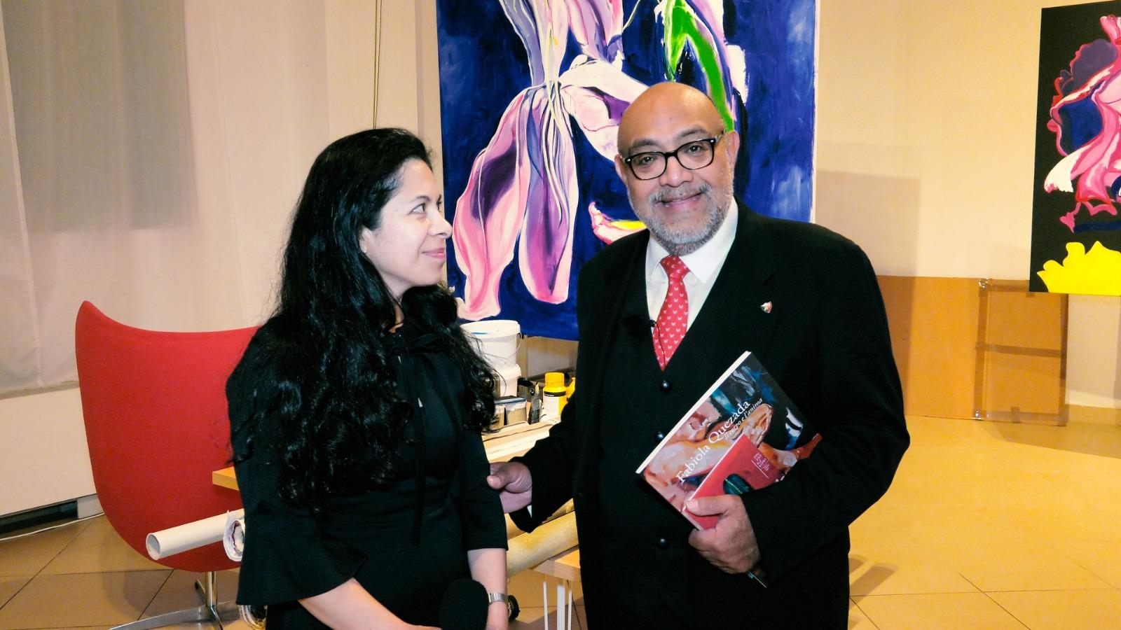 VIDEO: Fabiola Guenther inauguró su nuevo taller de pintura en Milán