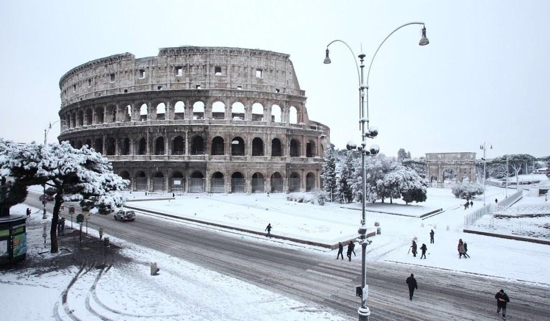 Italia: Ola de frío y nieve de norte a sur