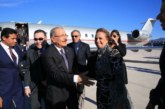 Presidente de la República Dominicana llega a Roma, Italia.
