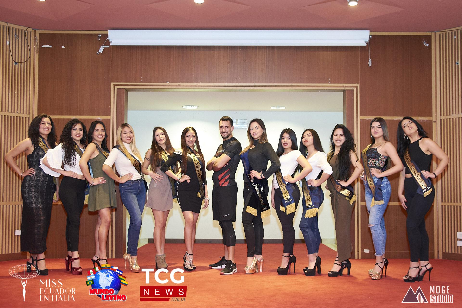 La defensa personal es parte de la agenda de las candidatas a  Miss Ecuador en Italia 2019