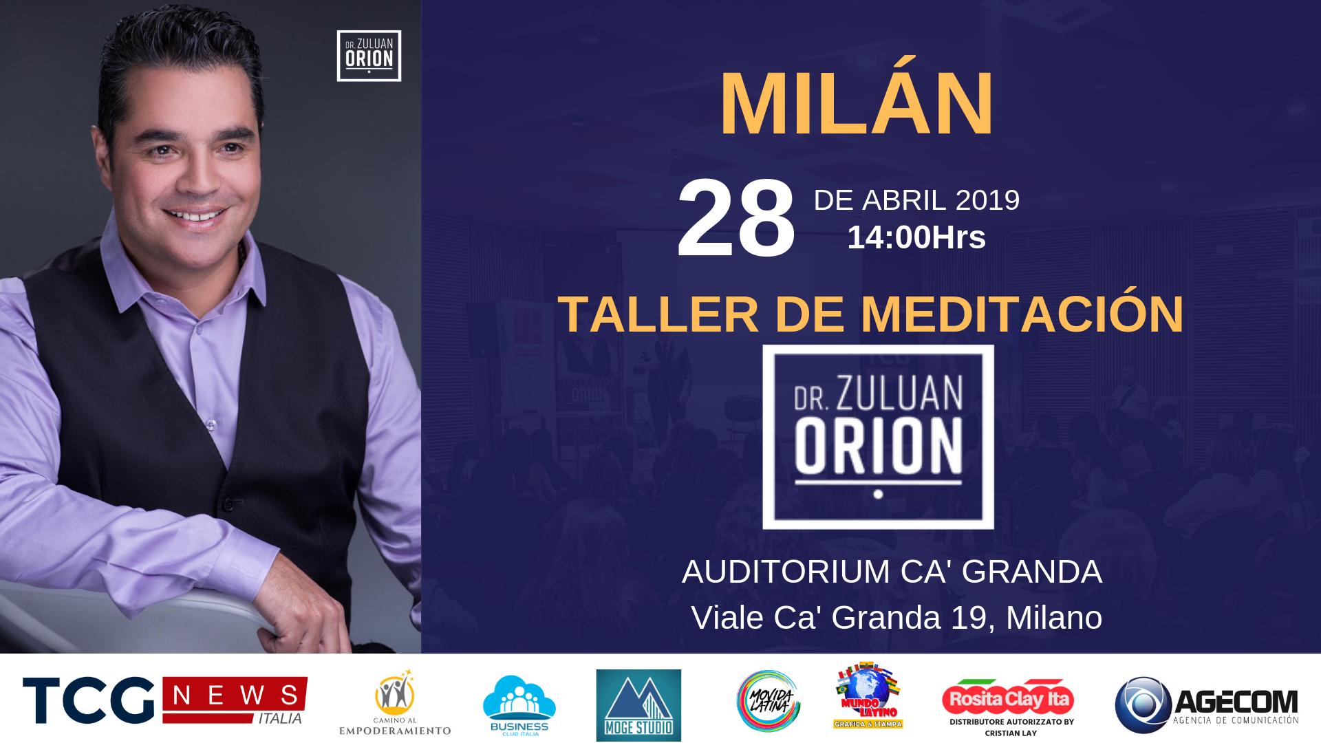 MILÁN: TALLER DE MEDITACIÓN CON EL DR. ZULUAN ORION