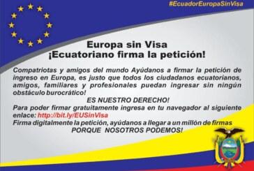 """Europa sin Visa"" Comité Sociedad Civil Ecuatoriana"