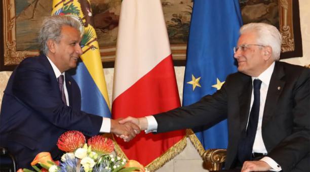 Presidentes de Ecuador e Italia se reunieron en Roma para analizar agenda bilateral
