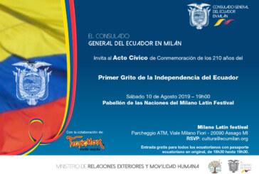 CONMEMORACIÓN DE LOS 210 AÑOS DEL PRIMER GRITO DE LA INDEPENDENCIA DEL ECUADOR