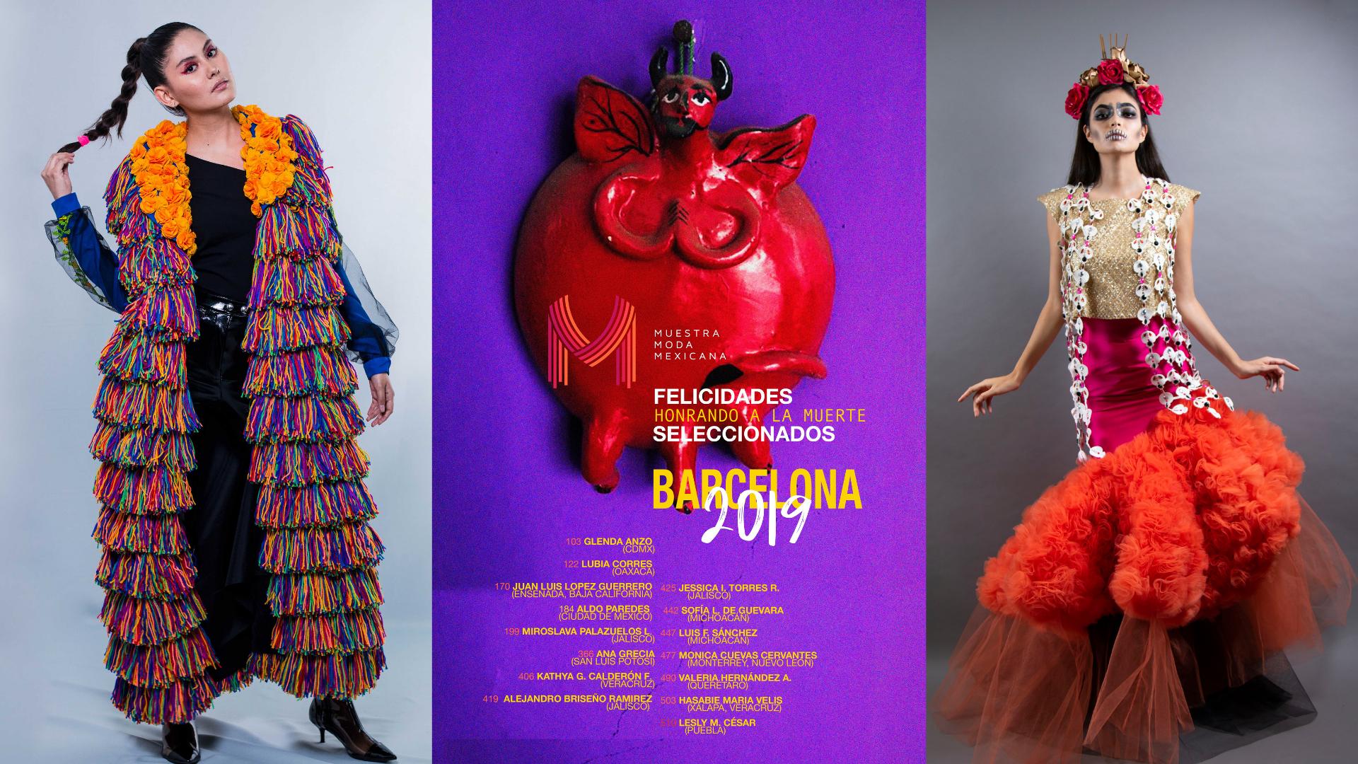 Conoce a los seleccionados de la 7° edición de la Muestra Moda Mexicana Barcelona 2019