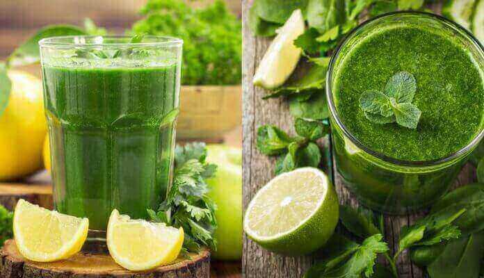 Jugo verde, receta buena para la salud