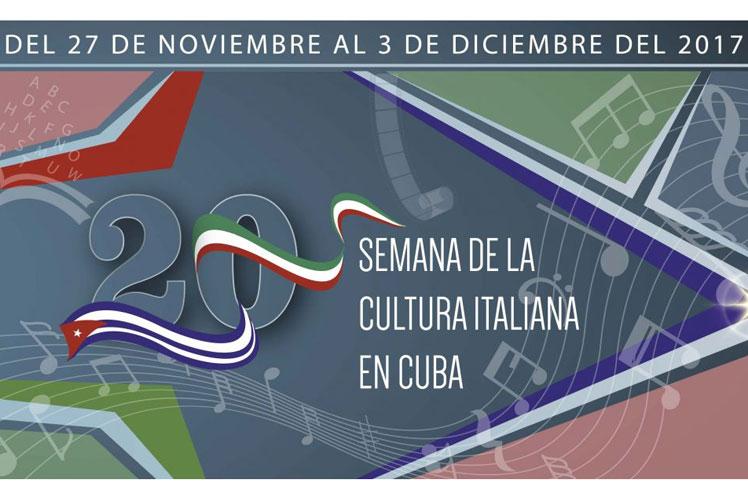 Arranca la semana de la cultura italiana en la Habana