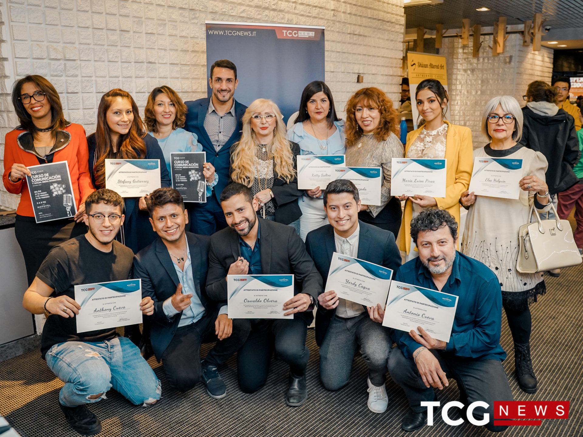 Grande successo per il corso di comunicazione promosso da TCG News Italia