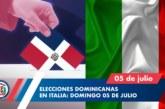 Dominicanos podrán votar en Italia el próximo 5 de julio