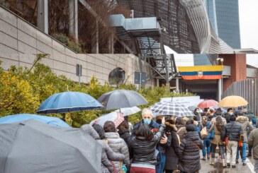 Orgoglio nazionale e grande partecipazione al seggio milanese per le Elezioni Generali dell'Ecuador
