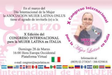 X Congreso Internacional para la MUJER LATINA en Italia 2021