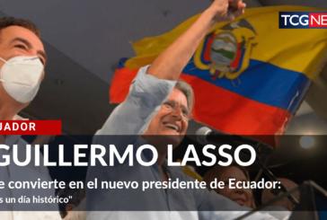 Guillermo Lasso se convierte en el nuevo presidente de Ecuador.