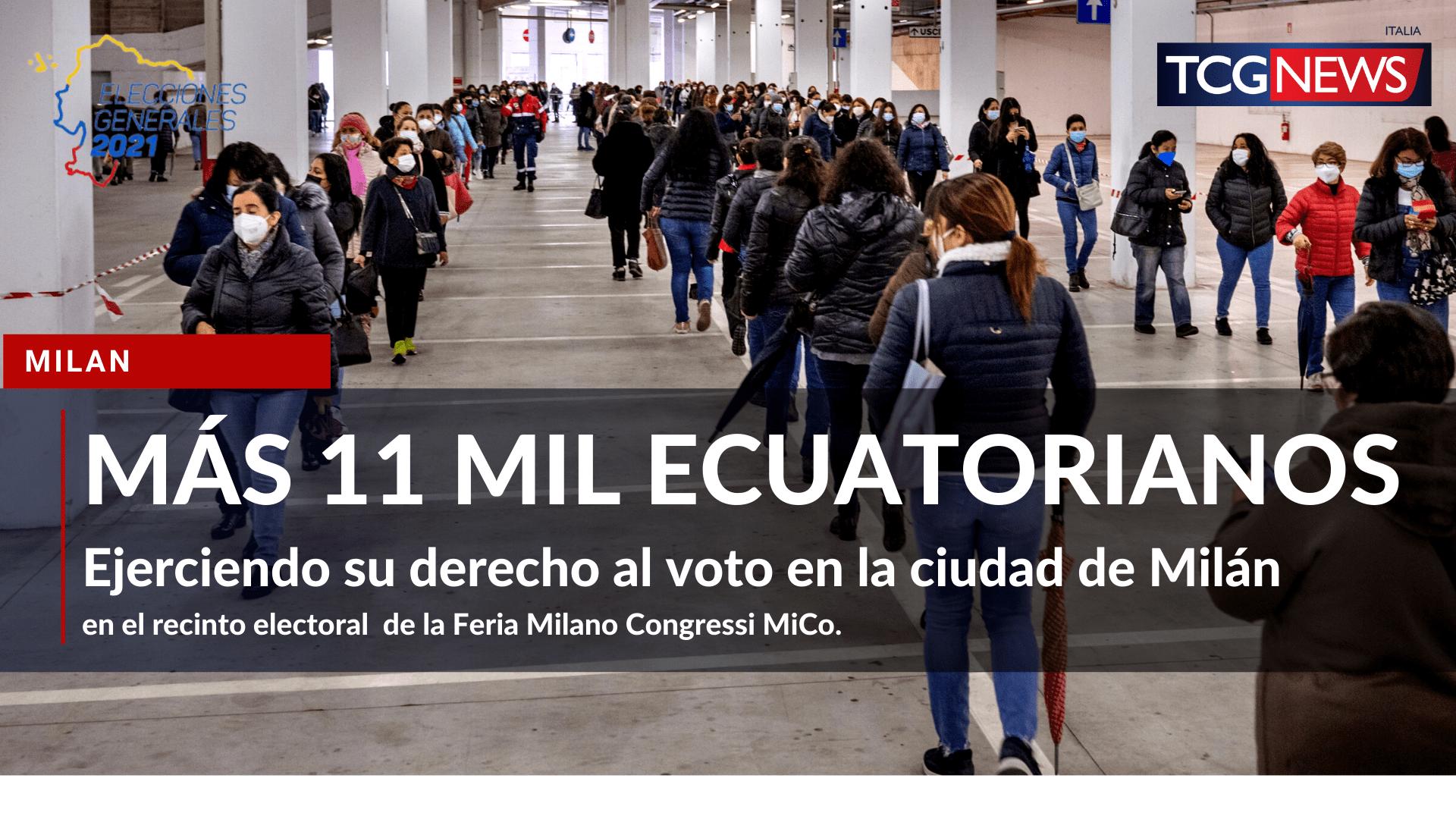 Más de 11 mil ecuatorianos votaron en Milán