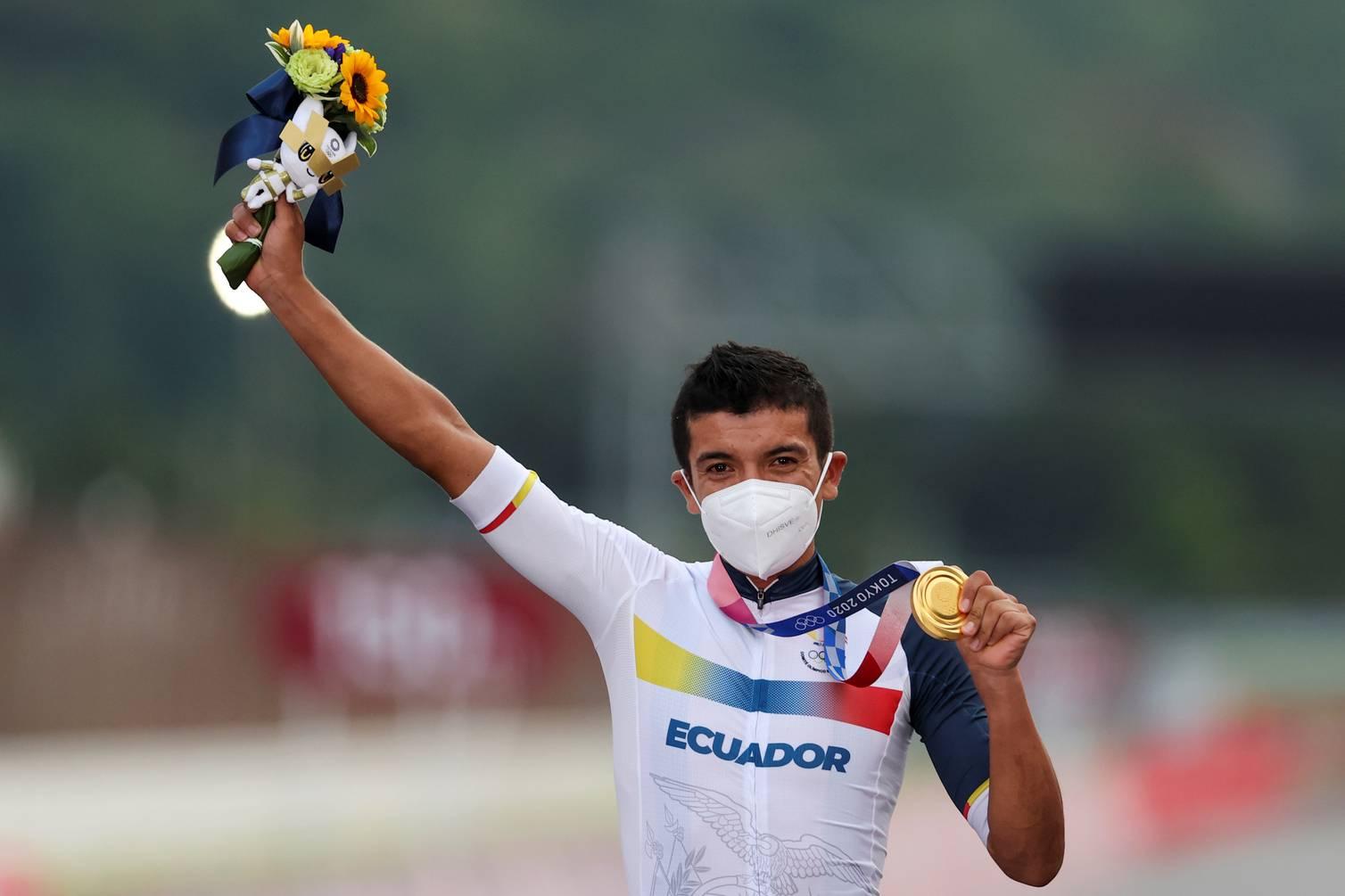 Richard Carapaz hace historia para Ecuador; obtuvo el oro en Tokio 2020