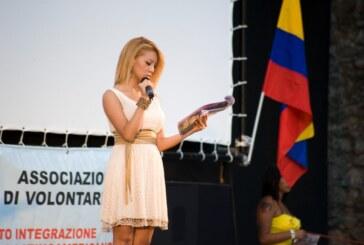 Cristina Zambrano León nell'Isola del Cinema Presentatrice Ufficiale della Festa d'Indipendenza dell'Ecuador